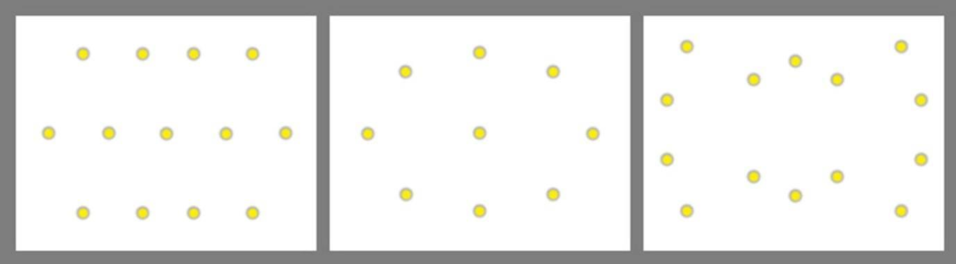 Расположение потолочных светильников