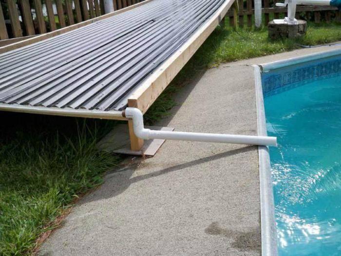подогрев воды в бассейне на даче