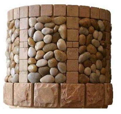 отделка колодца камнем
