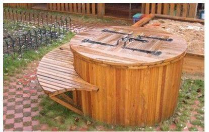 деревянный колодец с крышкой