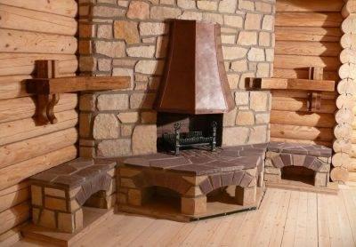 Печь-камин для деревянного дома