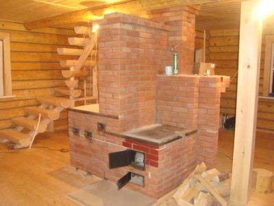 Печь деревянного рубленного дома