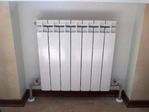 Установка алюминиевых радиаторов