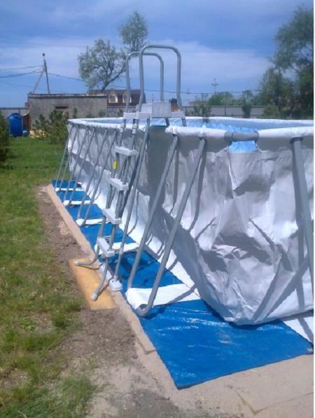 Установка бассейна на даче своими руками