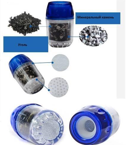 Фильтр для воды проточный на кран