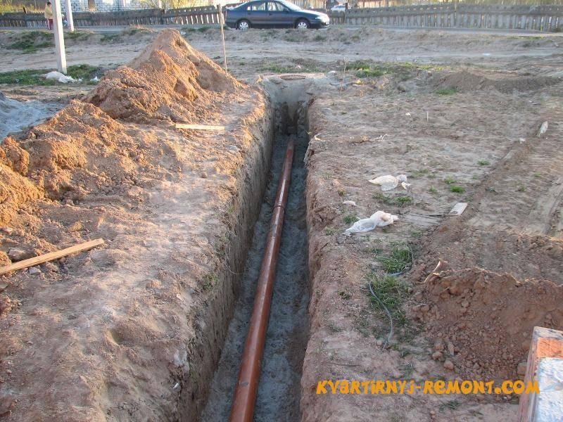 Монтаж наружной канализации в частном доме