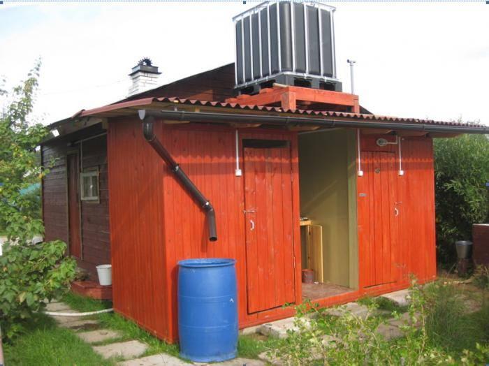 Сделать душ на даче