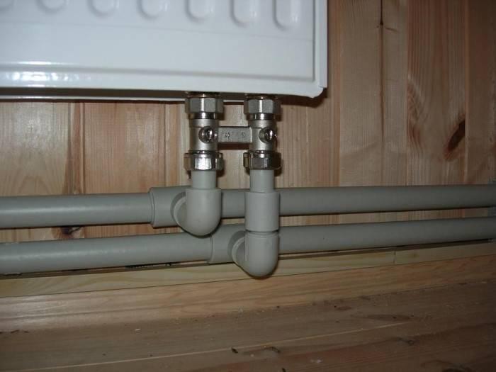 Типы подключения радиаторов отопления