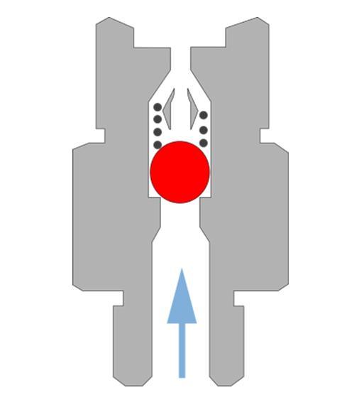 Обратный клапан горизонтальный