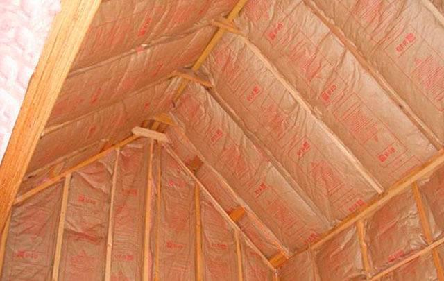 Утеплитель для крыши бани