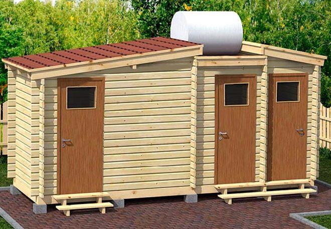 Туалет и душ своими руками на даче