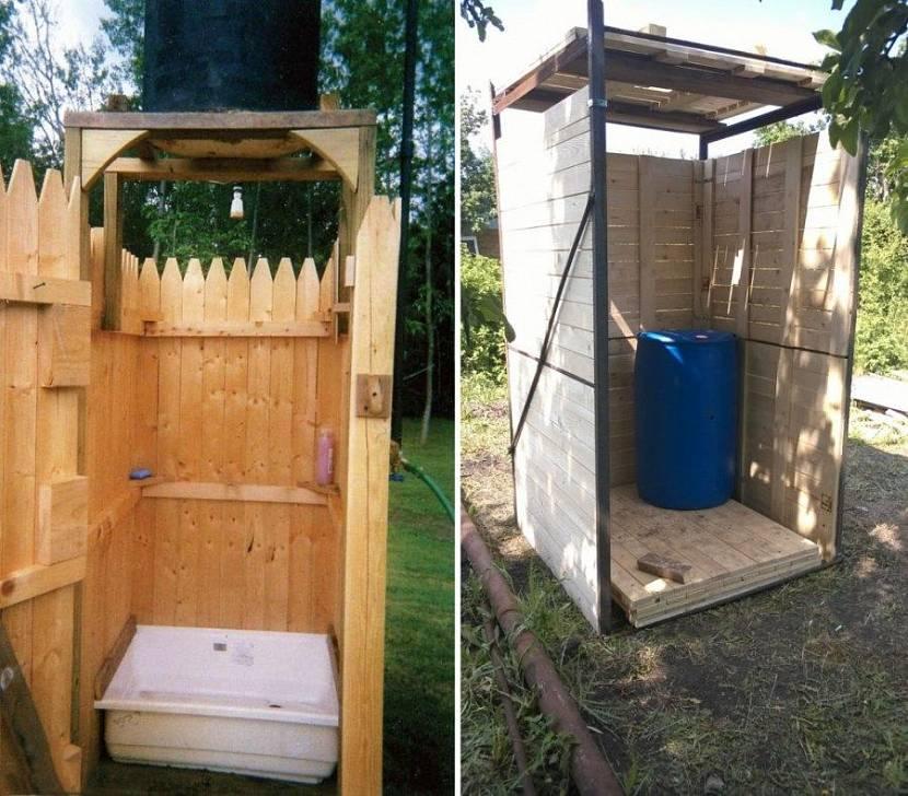 Деревянный душ на дачу