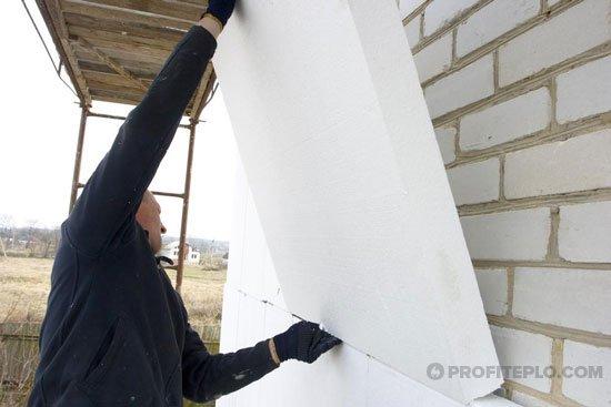 Утепление наружных стен кирпичного дома