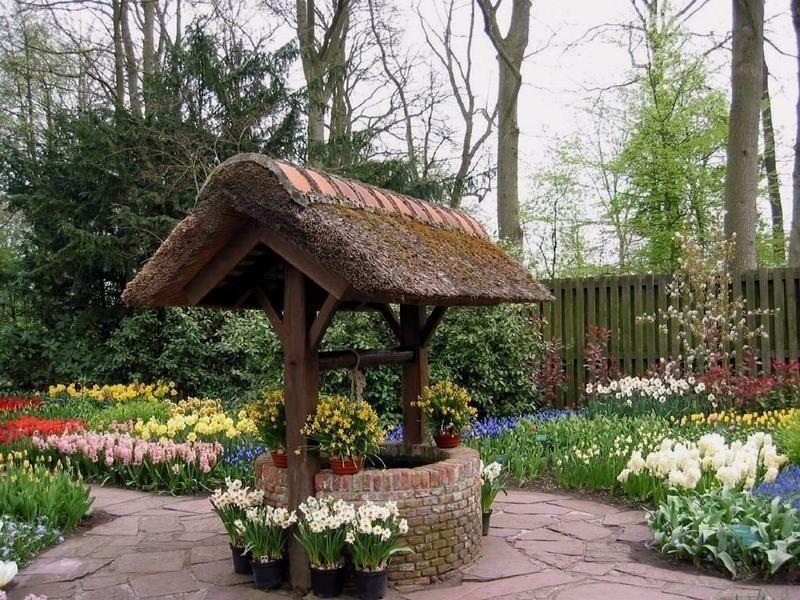 Декоративный колодец для сада своими руками