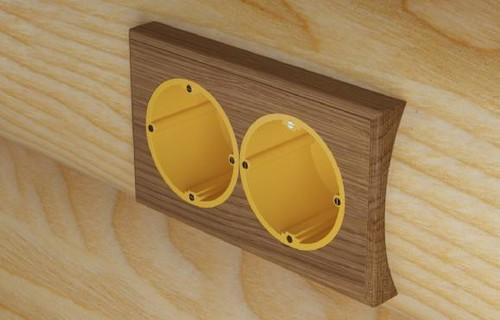 Подрозетник для деревянных стен