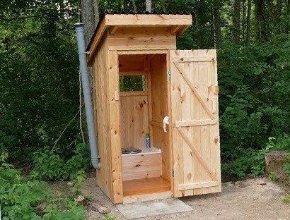 Чертеж уличного туалета