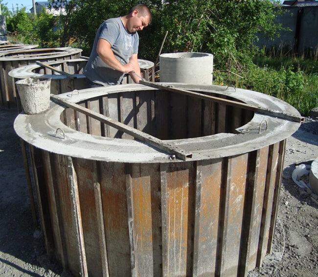 Вес бетонного кольца для колодца 90 см