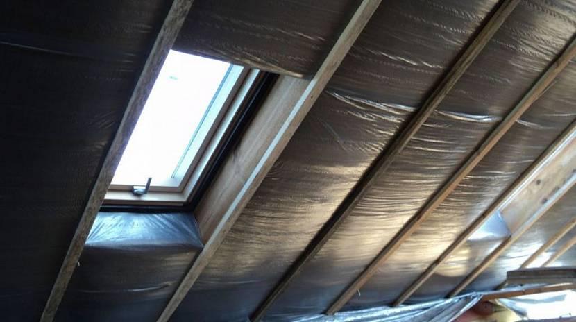 Утепление крыши снаружи своими руками