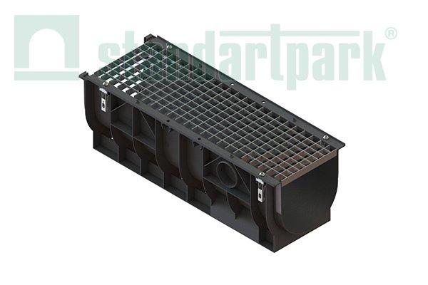 Лотки водосточные пластиковые с решеткой